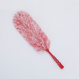 Cotton White Red Microfiber Dusting Duster