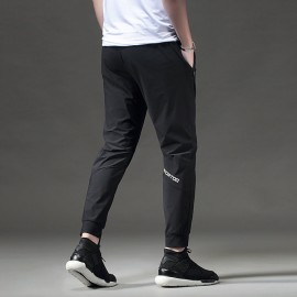 Fashion Gym Trouser Loose Fitness Casual Sweatpants Drawstrings Design Sports Trouser Men Workout Ankle Banded Trouser Black